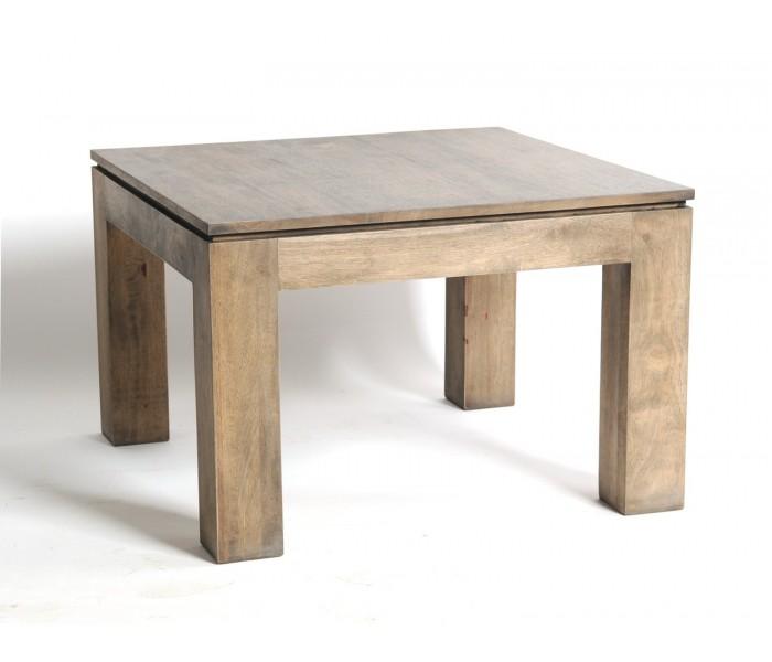 Table Basse Meubles Exotiques Hevea Grise Bois