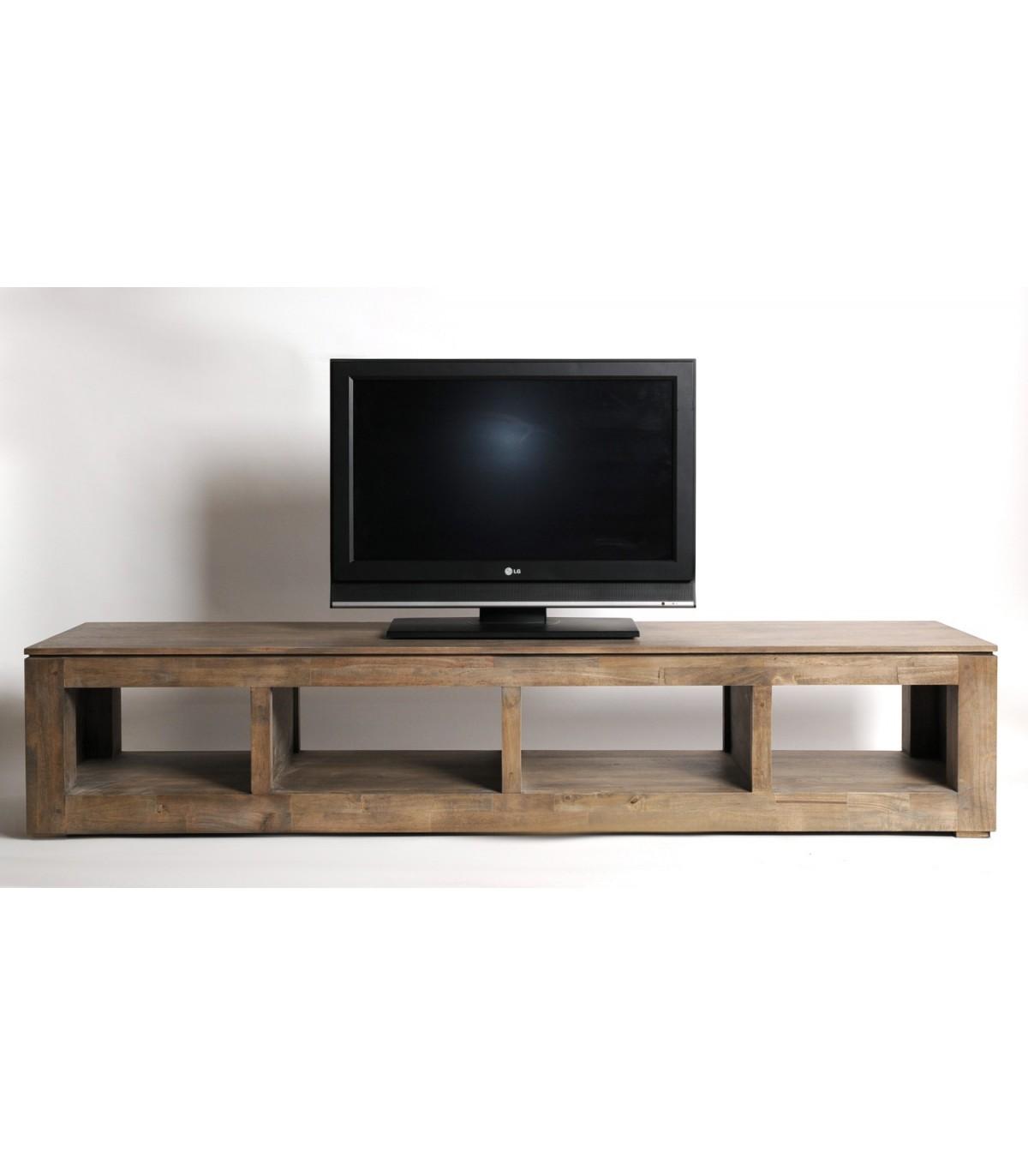 meuble tv hifi grand king size design MEUBLES HEVEA