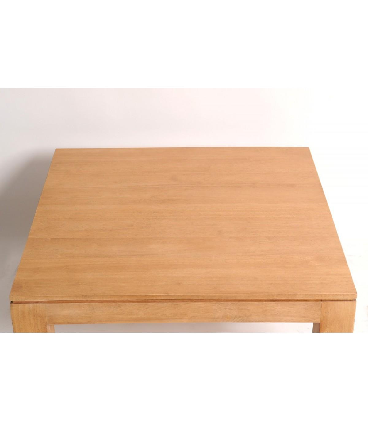 table basse carr bois meuble hevea naturel. Black Bedroom Furniture Sets. Home Design Ideas