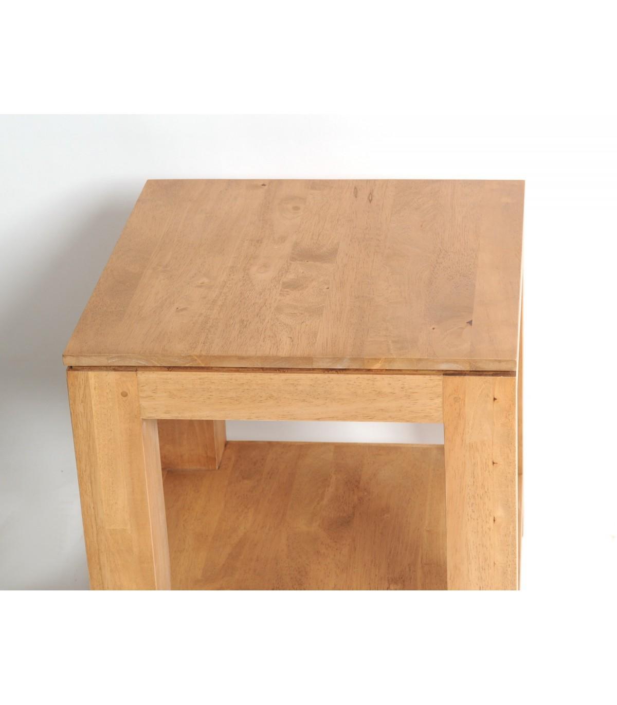 Table De Chevet Coin De Canape Bois Hevea Meuble Teck
