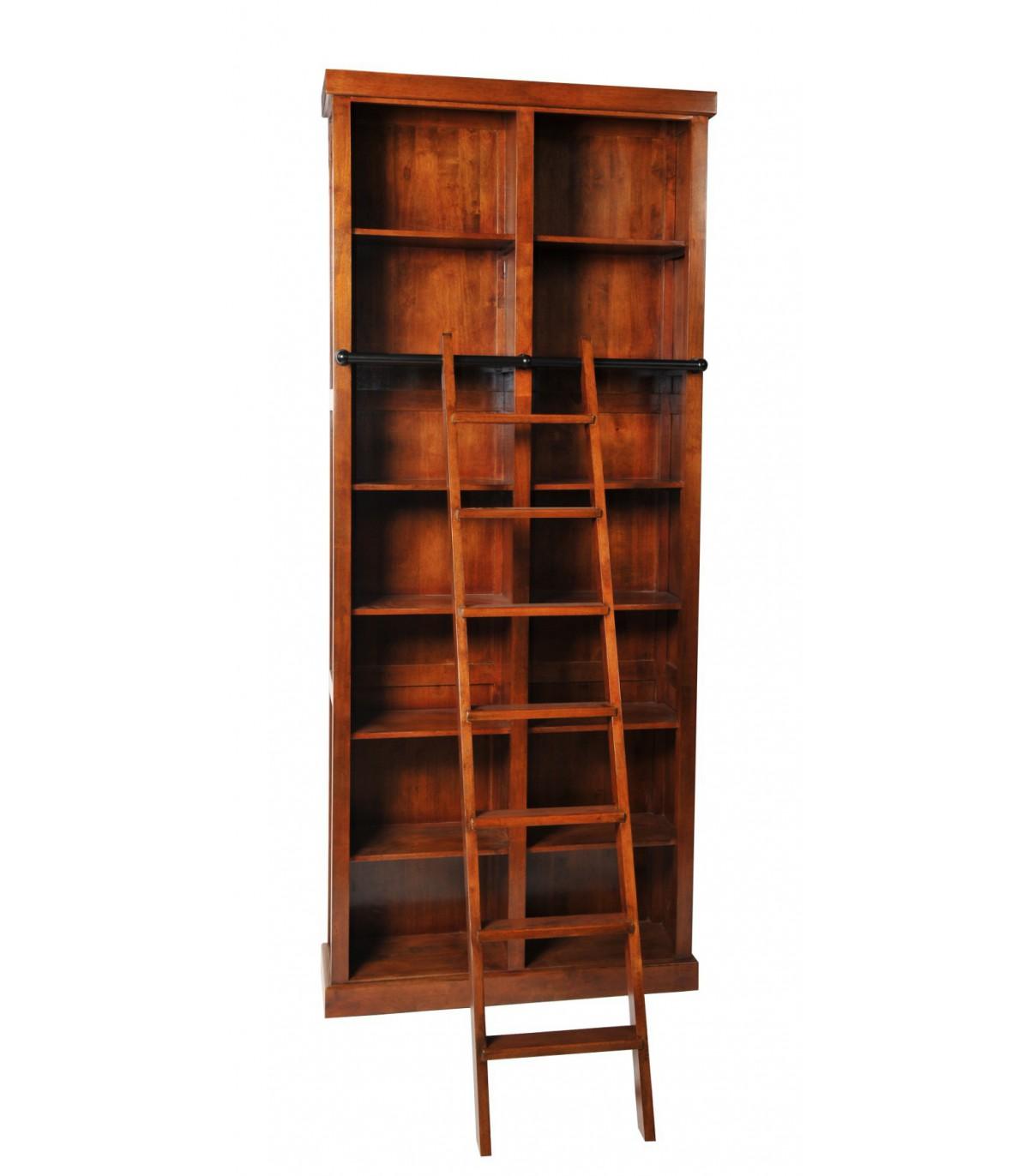 bibliothèque, échelle, bois, classique, meuble hevea, beldeko 641e74f4fb70