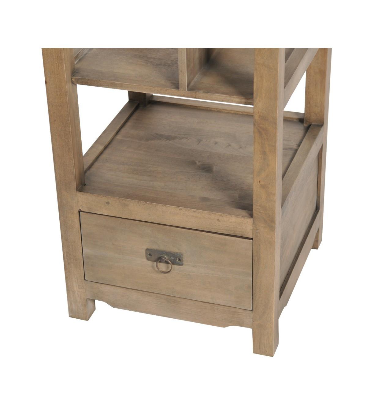 meuble exotique colonne biblioth que meuble heva double face. Black Bedroom Furniture Sets. Home Design Ideas