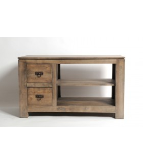 Meuble Tv 2 tiroirs EN hévéa