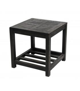 Table basse en bois noir
