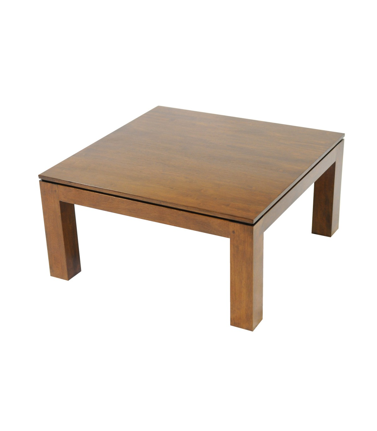 Basse Table En Carrée Hévéa Huilé IeW2EDHY9