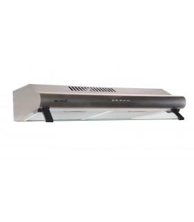 GRETA 60 XS - Hotte Casquette 60 cm. Hotte visière, Inox , puissance, filtre à graisse. Eclairage LED