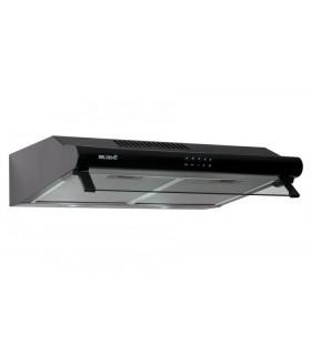 GRETA 60 BK - Hotte Casquette 60 cm. Hotte visière, coloris noir , puissance, filtre à graisse. Eclairage LED