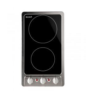 Domino Vitrocéramique Minuterie - BELDEKO BTVM2Z-E06VIX, avec boutons, minuteur, encastrable, inox