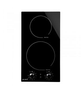 Plaque induction 2 feux boutons manette encastrable