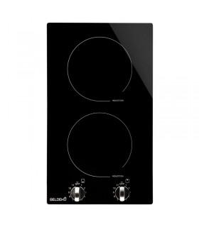 Domino induction encastrable 2 feux avec boutons manette