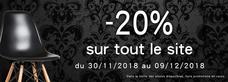 -20% SUR TOUT LE SITE